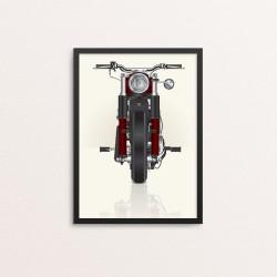 Plakat: Motorcykel, rød