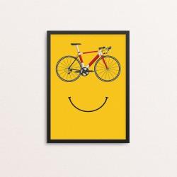 Plakat: Cykel med smil