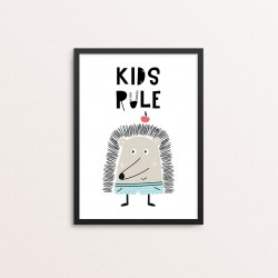 Plakat: Citat 'Kids Rule',...