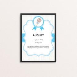 Plakat: Fødselstavle,...