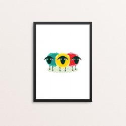 Plakat: Tre får