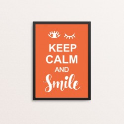 Plakat: 'Keep Calm And Smile'