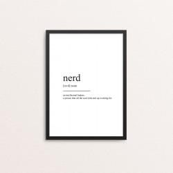 Plakat: Nerd