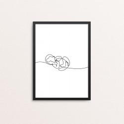 Plakat: Liggende baby, one...