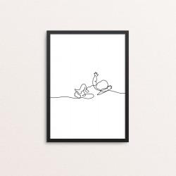 Plakat: Vågen baby, one line