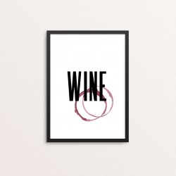 Plakat: Wine With Stain