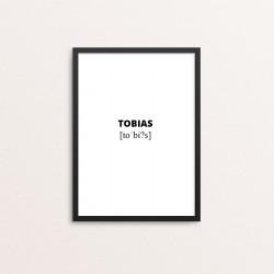 Plakat: Tobias lydskrift