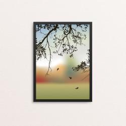 Plakat: Autumn At The Lake