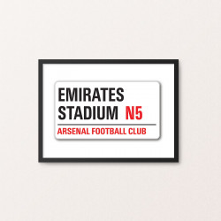 Plakat: Road Sign, Arsenal FC
