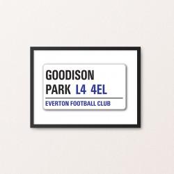 Plakat: Road Sign, Everton FC