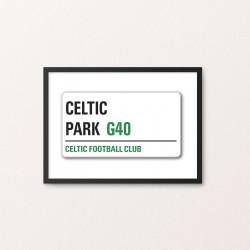 Plakat: Road Sign, Celtic FC