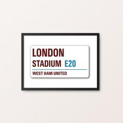 Plakat: Road Sign, West Ham...