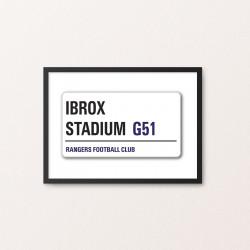 Plakat: Road Sign, Rangers FC