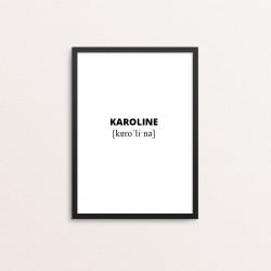 Plakat: Karoline lydskrift