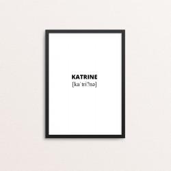 Plakat: Katrine lydskrift