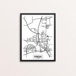 Plakat: By, 9870 Sindal