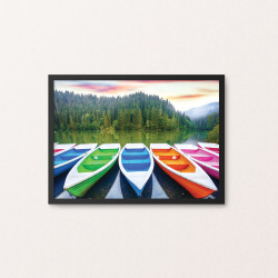 Plakat: Colorful Boats