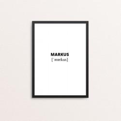 Plakat: Markus lydskrift