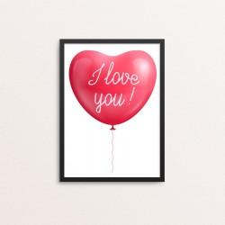 Plakat: Love, ballon I love...