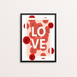 Plakat: Love, Roses