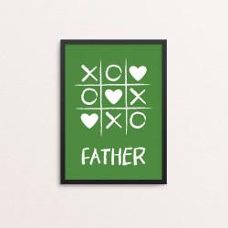 Plakat: Tic Tac Toe, Father