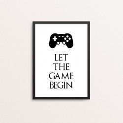 Plakat: 'LET THE GAME...