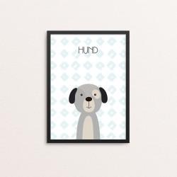 Plakat: Hund, simpel