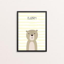 Plakat: Bjørn, simpel