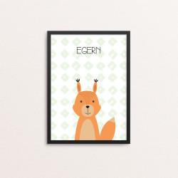 Plakat: Egern, simpel