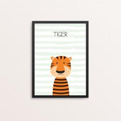 Plakat: Tiger, simpel