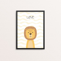 Plakat: Løve, simpel