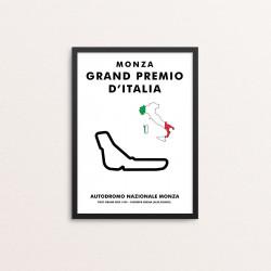 Plakat: MONZA - GRAND...