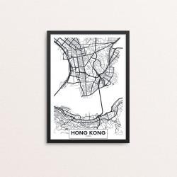 Plakat: By, Hong Kong