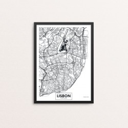 Plakat: By, Lisbon (Lissabon)