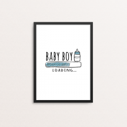 Plakat: 'BABY BOY LOADING'