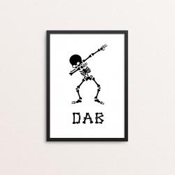 Plakat: 'DAB', skelet