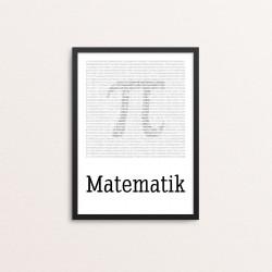 Plakat: 'Matematik'