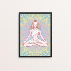 Plakat: Mediterende kvinde,...