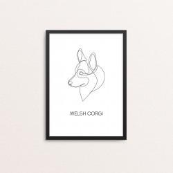 Plakat: 'WELSH CORGI', one...