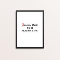 Plakat: 'In nomine Patris...