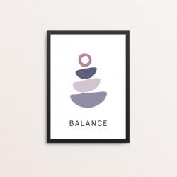Plakat: 'BALANCE YOGA'