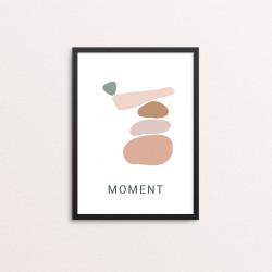 Plakat: 'MOMENT YOGA'