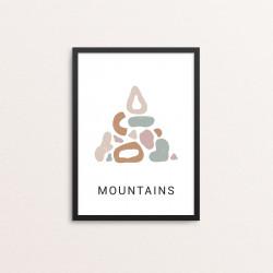 Plakat: 'MOUNTAINS YOGA'
