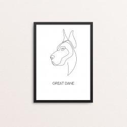 Plakat: 'GREAT DANE', one line
