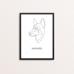 Plakat: 'SHEPHERD', one line