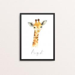 Plakat: Afrikas dyr, girafunge