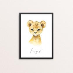 Plakat: Afrikas dyr, løveunge