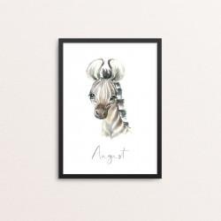 Plakat: Afrikas dyr, zebraunge