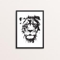 Plakat: Lion, fotoart