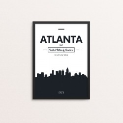 Plakat: Skyline, Atlanta